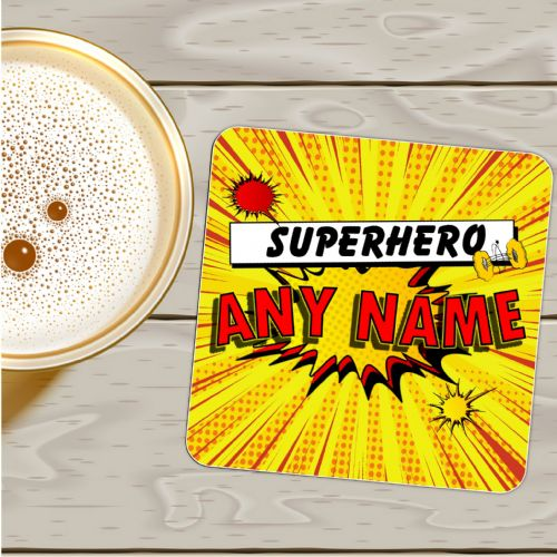 Personalised Comic Blast Drinks Coaster  N17 - Birthday, Christmas  Gift